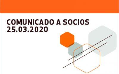 Comunicado a socios 25.03.2020
